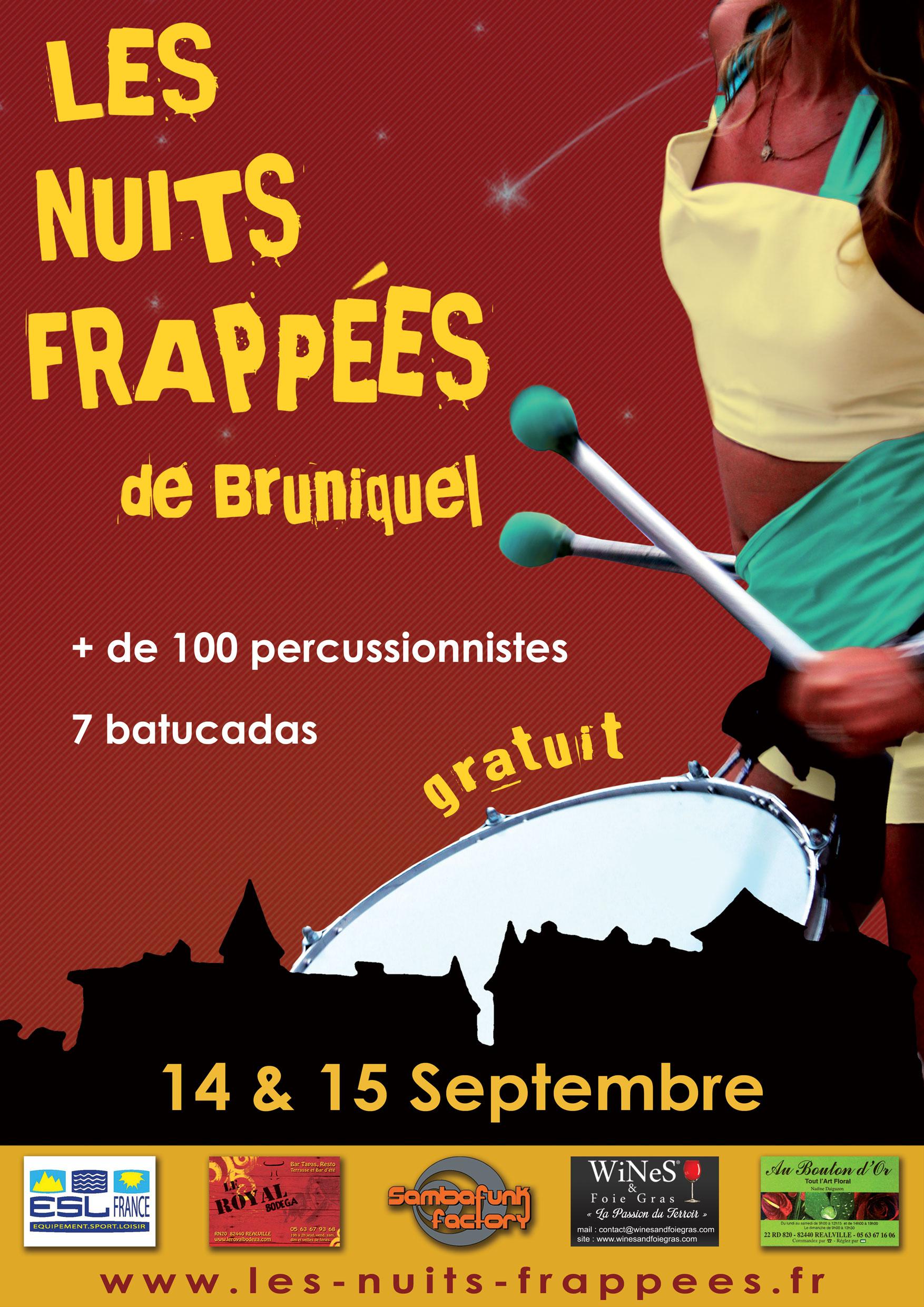 Affiche Les nuits frappées de Bruniquel Edition 2013